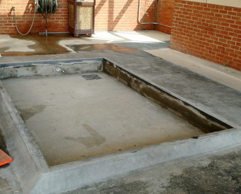 Catawba hospital concrete foundation for industrial lift