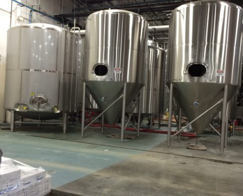 Highland Brewery Tanks In place