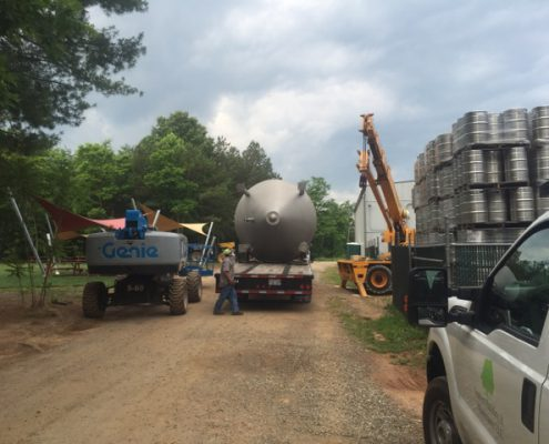 Highland Brewery Tank Equipment Rigging