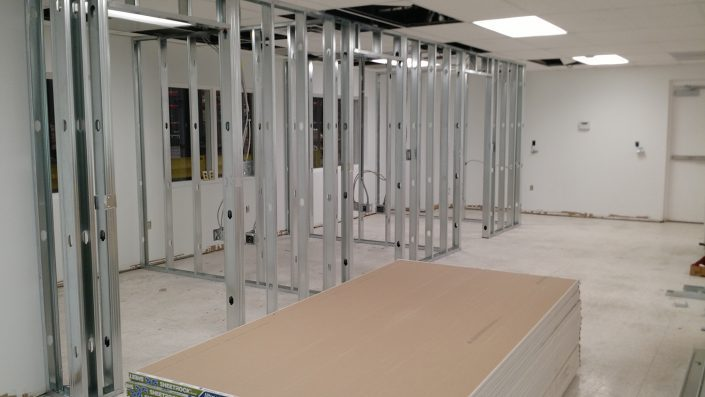Remodeling office in western North Carolina