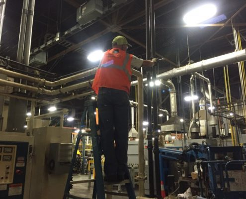 piping custom fabrication and installation in industrial complex