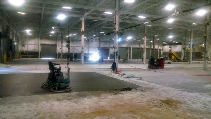 Linamar Concrete Pour Finish