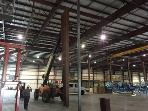 Tryon Steel Beam Installation