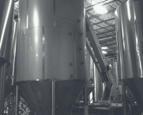 brewery tank and equipment installation